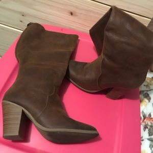 Just Fab Wide Calf Heeled Boots in size 6 1/2